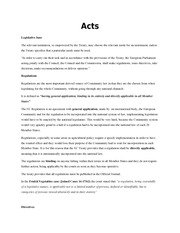EU LAW Course 5 - Acts