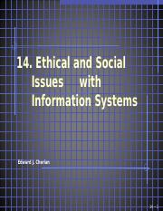 14  Ethical and Social Issues in Information Systems(2).ppt