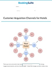 Customer Acquisition Channels for Hotels