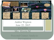 Personal Crimes Analysis Presentation