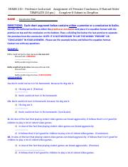 # 2  ASSIGNMENT TEMPLATE - HUMN 210  Premise, Conclusion & Natural Order.docx