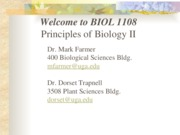 BIOL 1108 Syllabus and Introduction 2015 eLC