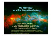 The Milky Way as a Star Formation Engine Lecture