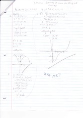 3.5 - 3.6 Summary of Curve Sketching and Graphing