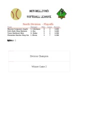 Mitchelltown Softball League conmplete