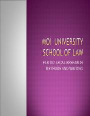 FLB 102 LEGAL RESEARCH course outline.ppt