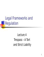 Lecture 4 - Trespass  Strict Liability.ppt