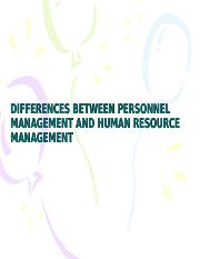 DIFF. BETWEEN PERSONNEL MGT AND HRM.ppt