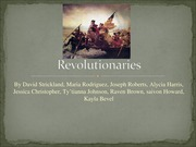 Student generated project dealing with factions during the 16/17th century: Revolutionaries