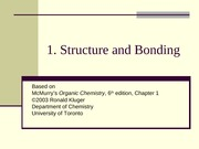 Chapter01-Structure and Bonding