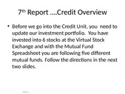 7th Report Credit Overview.ppt