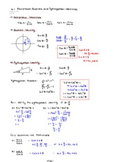 Reciprocal, Quotient, and Pythagorean Identities