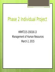 MGMT215 Phase 2 Individual Project.ppt