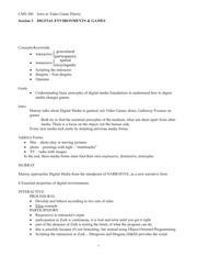 CMS.300 Session 3 Lecture Outline