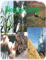 Lecture 4 - Biomass Energy
