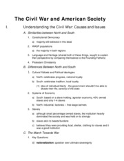 The Civil War and American Society