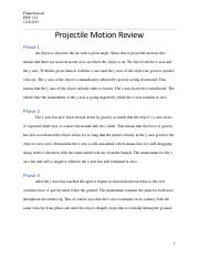 Flamefusion1_PHY121_ProjectileMotionReview