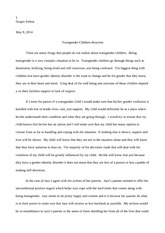 Transgendered Children Essay