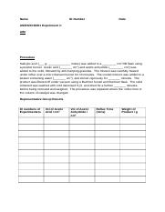 Data Sheet for Synthesis of Aspirin.docx