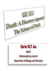 Lecture on Death & Aging