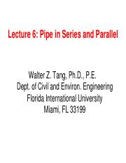 Lecture 6 Pipe in series and parallel.pdf
