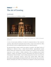 2015 Isobel Harbison ; The Art of Curating (Frieze 171).pdf