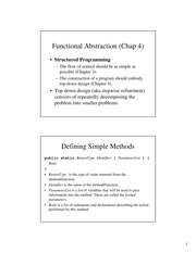 Chapter 4: Functional Abstraction