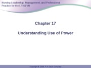 Anderson Ch 17 Use of Power