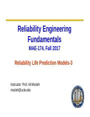 Lecture Module 7- Reliability Prediction Models-Part 3.ppt