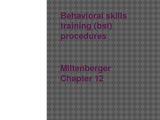 Ch12_Behavioral skills training (bst) procedures