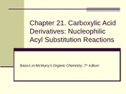 chapter21-Carboxylic Acids & Derivatives
