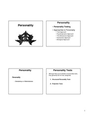 Lecture 29 _ 30 - Personality