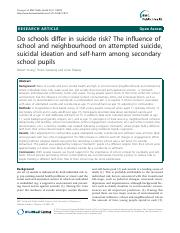 Do school differ in suicide risk