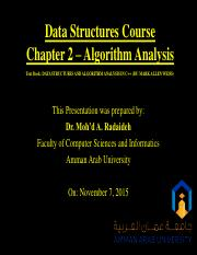 Chapter 2 - Algorithm Analysis