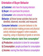 2. Orientation of Buyer  Behavior.ppt