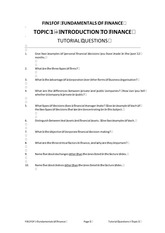 FOF Topic 1 Tutorial Questions