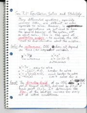 Section 7.1 - Equilibrium Solutions and Stability