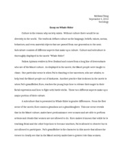 essay on culture and subculture
