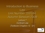 IBL Lecture 7 - Autumn 2009