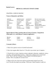 Geology Module 4. Igneous Rocks Study Guide.docx
