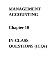 ICQs - Chapter 10 Questions