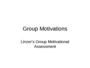 Group Motivations