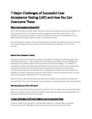 7 Major Challenges of Successful User Acceptance Testing (UAT) and How You Can Overcome These