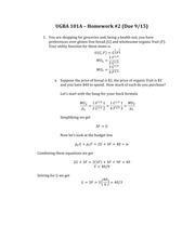 Homework 2 Solutions Corrected