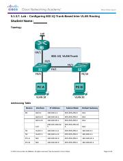 5.1.3.7 Lab - Configuring 802.1Q Trunk-Based Inter-VLAN Routing.docx