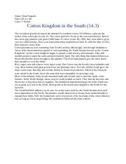 Cotton Kingdom in the South(essay 14.3)