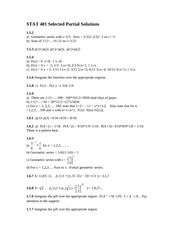 STAT 401 - Homework 2 with Answers