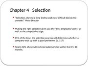 Chapter 4-Selection