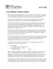 Morgan Stanley Case Solution