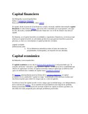 Capital financiero